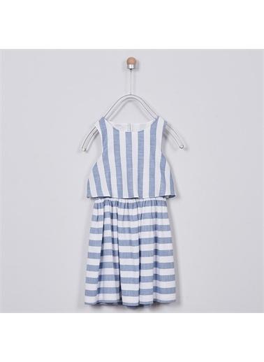 Panço Kız Çocuk Elbise 2011GK26027 Mavi